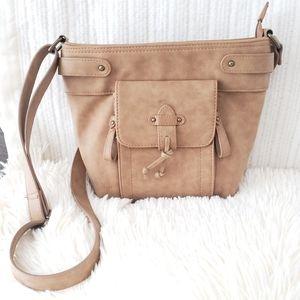 🎀B.o.c Tan Crossbody Organizer Handbag